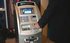 Nautilus Hyosung shows its new ATM, the Cash Zone.