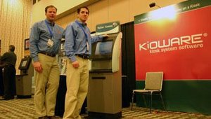 KioWare showed its HTML-enabled kiosks designed to use companies pre-existing Web-based software so companies can avoid the expense of redeveloping existing HTML applications for kiosk deployment.