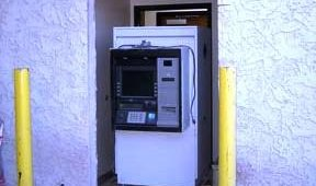 Before: First Edition Community Credit Union installation of Triton FT7000 ATM without surround.