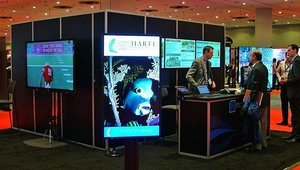 Nanonation also was on hand to showcase its digital signage solutions...