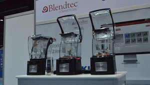 Blendtec's Stealth is a sound-dampening commercial blender featuring an online programming tool that allows users to build upon the 42 preprogrammed blend cycles and create new ones for franchise-wide sharing through the USB port.