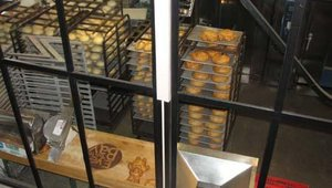 """Guests to the restaurant and bakery can watch bread being prepared daily through the large windows. """"The heart of the restaurant is the bakery,"""" said Gayle DeBrosse, Boudin's executive VP, Business Development & Marketing."""