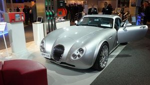 A vintage Bugatti caught attendees' attention.