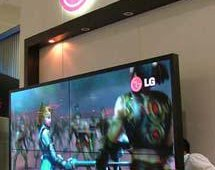 LG Electronics featured its digital signage displays at the show.