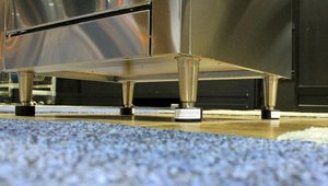 Stoveshoes provides a cost-effective alternative to wheels or casters for commercial kitchen equipment. The pads are non-breakable, chemical-resistant and low-friction, so one person can slide equipment easily to facilitate more thorough cleaning.