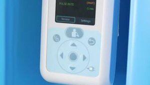 Doctors can direct patients to this blood pressure monitor to assess basic health conditions.