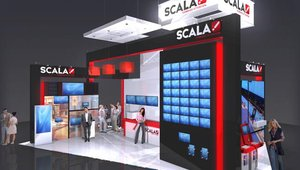 Digital signage software provider Scala sent over a rendering of its booth for this year's Integrated Systems Europe show.