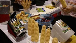 For the first time in the United States, Seoul, Korea-based CF System Ltd. was showcasing its Twist Potato, a potato slicer that creates a fried spiral versus a traditional French fry.
