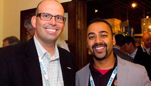 From left: Tim McCallum, Vapiano, and Ron Parikh from Genghis Grill