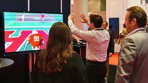 ... including some gamification with this gesture-interactive display.
