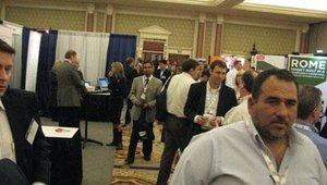 Show organizers estimated that forum's number of attendees and exhibitors was up from previous years. The forum's number of exhibitors increased betweeen 26 percent and 30 percent from last year.