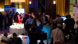 After the food tour and opening keynote, 2011 Fast Casual Executive Summit attendees were given the chance to network at large. A cocktail reception, sponsored by Truitt Bros., was held at Chicago's Hotel Allegro.