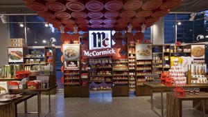The store is organized by a series of zones focusing on branding in key product categories and activity areas.