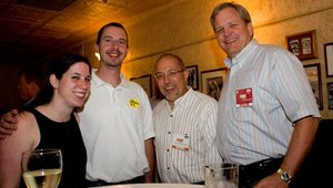 From left: Felicia Braude, editor of PizzaLoverChicago.com; Travis Guthman, from The Pizza Peel; Carlos Herrera, from The Coca-Cola Company North America; and J. Forbes Anderson, chief strategy officer for CiCi's Pizza.