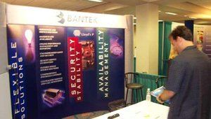 The Bantek booth.