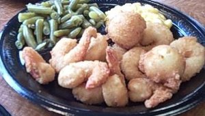 Captain D's entrees offer a full meal, including fried or grilled seafood plus two side items and hush puppies or a bread stick. The company switched to a premium shrimp last year that has shown a customer preference of 2-to-1.