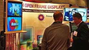 Prime Resource America featured its portrait-oriented glasses-free 3D displays.