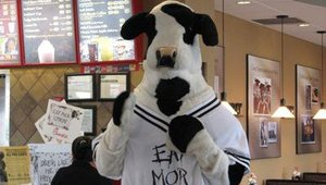 Each store also had a Chick-fil-A Cow mascot costume. The mascot interacted with customers throughout the appreciation day event.