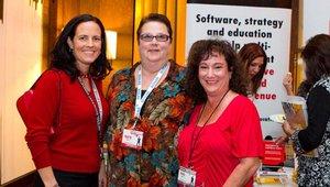 From left: Beth Madden, National Restaurant Association, Marla Topliff, Rosati's Pizza, and Linda Duke, Duke Marketing