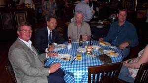 Chris Klein, Hansup Kwon & Bill Dunn host their happenin' table.