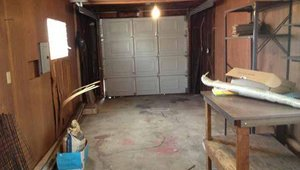 An image of the garage before it was remodeled into a guest house.