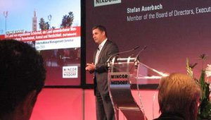Stefan Auerbach, Wincor's executive vice president of banking, opened the sessions on May 28.