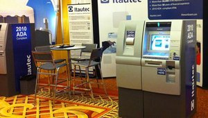 Itautec America displays it Adattis intelligent deposit and Adattis cash dispensing ATMs at ATMIA 2011 in Miami. Itautec America, a subsidiary of Sao Paulo, Brazil-based Itautec S.A., is entering the U.S. market with a new line of ATMs.