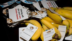 Platinum sponsor MonkeyMedia provided bananas for registrants.