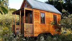 This Tumbleweed Tiny House Co. home is portable.