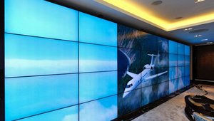 A corporate jet showroom recently deployed a 32-display digital signage video wall, built with NEC Display Solutions displays and powered by Matrox Mura MPX Series controller boards.