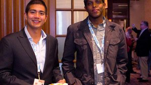 From left: Jun Loayza from Summit Culinary sponsor RewardMe, and Jabril Hashi from Safari Express