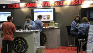 The Federal Communications Commission not only hosted a booth at the show, but Chairman Julius Genachowski spoke about the importance of expanding broadband during the keynote speech. Sprint's CEO Dan Hesse also addressed the crowd.