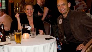 Tricia Murphy, NEC, and Bobby Renaud, VP of events for NetWorld Alliance, the producer of the Pizza Executive Summit.
