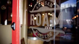 Roam Artisan Burgers opened on San Francisco's Union Street in Summer 2010. The restaurant was founded by Josh Spiegelman and Lynn Gorfinkle, who focus on serving gourmet menu items in an environment that features sustainable building materials.