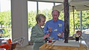 Sheila Behn and Keith Corey enjoyed drinks and dishes offered at the event.