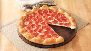 Pizza Hut's 3-Cheese Stuffed Crust Pizza includes white cheddar, mozzarella and provolone cheeses.