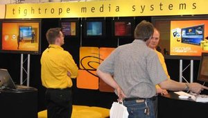 At the Tightrope booth, the focus was on the company's Carousel digital signage framework.