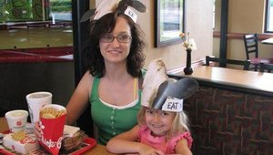 Chick-fil-A stores also offered special hats before the event for customers to wear on Cow Appreciation Day.