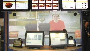 Digital menu boards got a lot of attention at The FS/TEC Expo. MICROS promoted its digital menu boards, which are integrated into a store's point-of-sale system. Panels are configurable and programmable, allowing instant daypart changes.