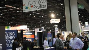 The mCommerce Pavilion was home to all companies promoting mobile payments.