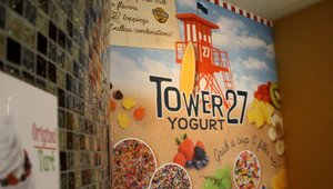 Tower 27 is Straw Hat Pizza's new build-your-own yogurt concept. This is the company's first co-located store.
