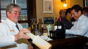 Nick Sarillio, president and founder of Nick's Pizza & Pub, prepared for a drink.