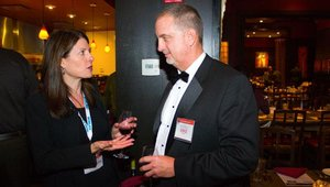 Elizabeth Journell, director of foodservice business development at the NPD Group speaks with Mike Bitters, senior account executive with Neace Lukens. Bitters was a presenter during the Summit.