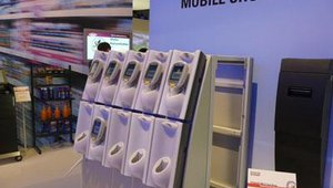 Mobile solutions from Motorala were highlighted in a display with solutions for European retailer IKEA.
