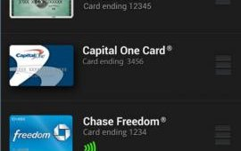Users can select any of the cards they have preloaded into the mobile wallet. At launch, cards from issuing bank partners Chase and Capital One, as well as card brand American Express, can be loaded into the app. Additionally, a prepaid Isis Mobile Wallet card will be preloaded into the app.