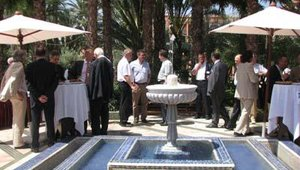 Attendees networked during a coffee break.