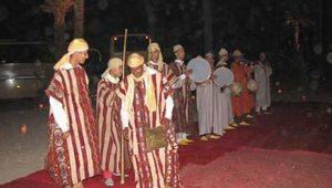 Berber dancers performed traditional Moroccan songs and dances.