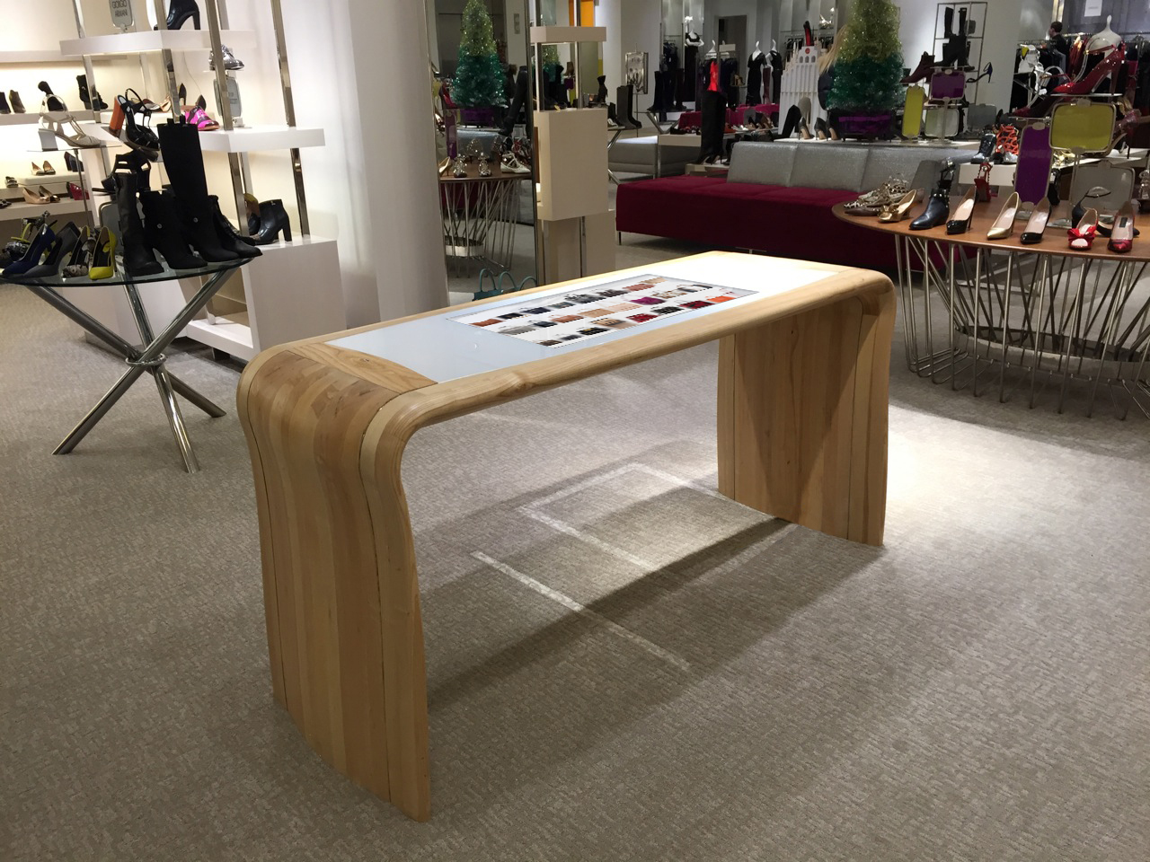 neiman marcus sold on interactive digital signage touch tables