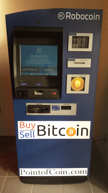 New bitcoin atm open for business in washington mall blockchain robocoin point of coin atm ccuart Images