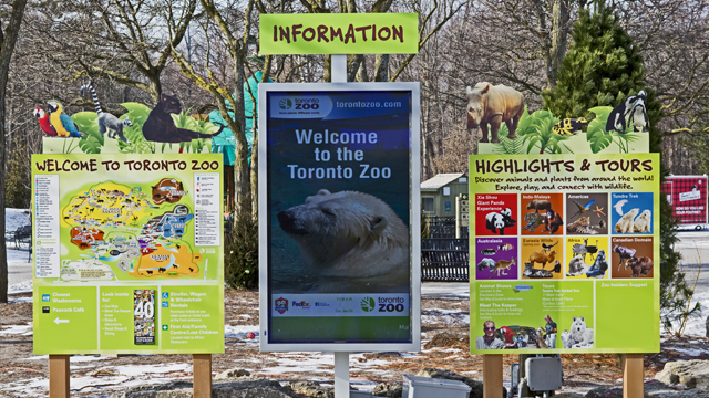 1dce20ed1 Zoos putting digital signage on display | Digital Signage Today